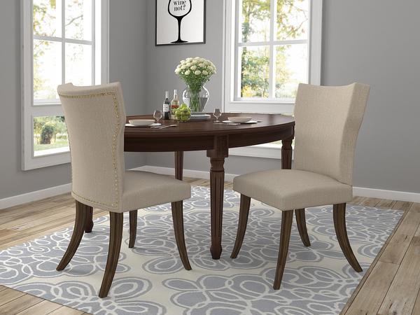 stylowe krzesła tapicerowane szare